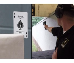Разрезать карту выстрелом с расстояния 23 метра