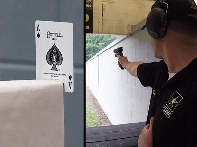 Cut a card with a shot