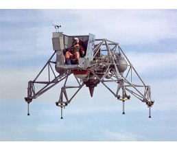 Crash of the lunar module training vehicle