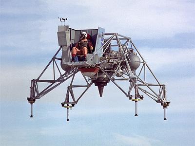 Crash of the lunar module training vehicle