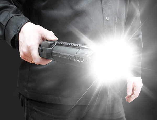 Stun gun ZEUS with a flashbang cartridge