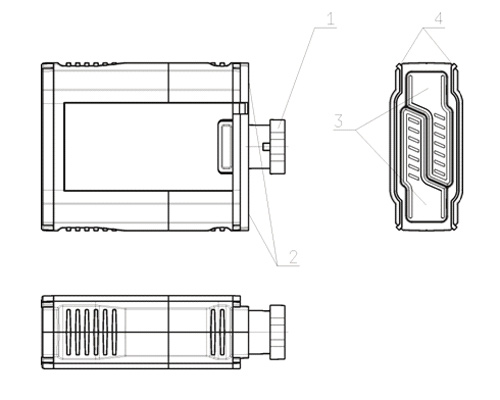 Scheme for remote cartridge plus for stun gun ZEUS